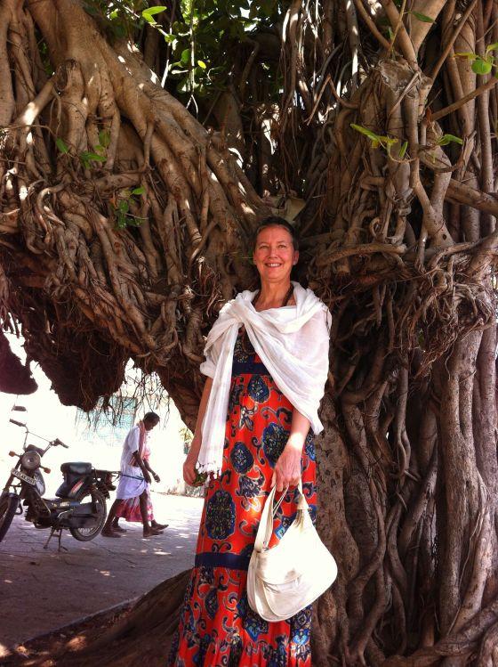 Ganga vid banjanträd