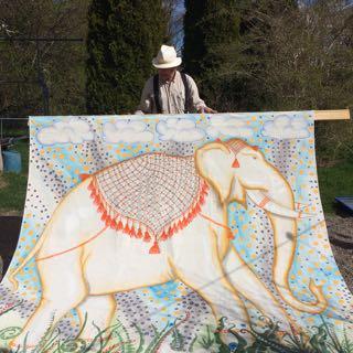 Elefant bonad av Rurik Bladh