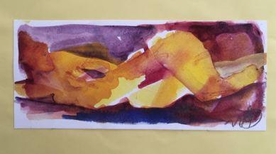 Naket o gult, Akvarell Ganga