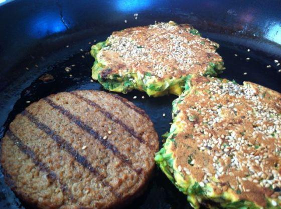 m på stekpannan burgerbröd, glutefri