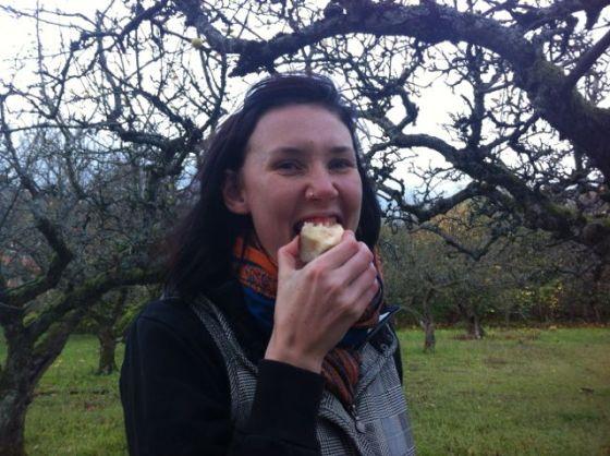 Siri äter äpple