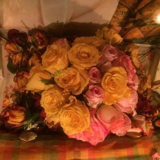 blommor, altaret