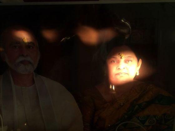 morgon med Amma&Bhagavan