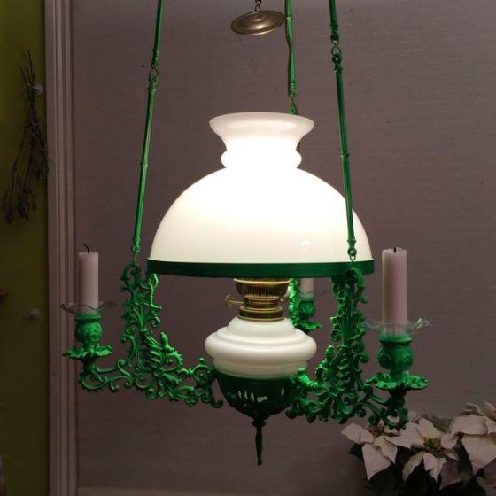 gröna lampan