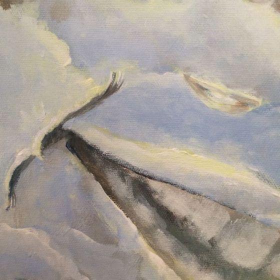 detalj av leende himmel, Canvas. Ganga