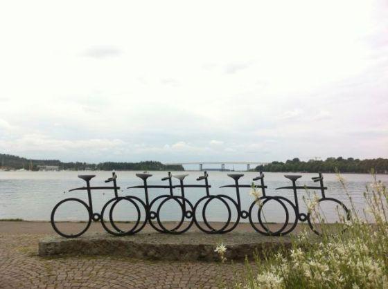 Irene Nordhs fina cykelskulptur i Motala