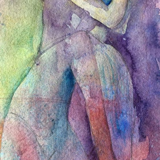 Akvarell 2, detalj by Ganga