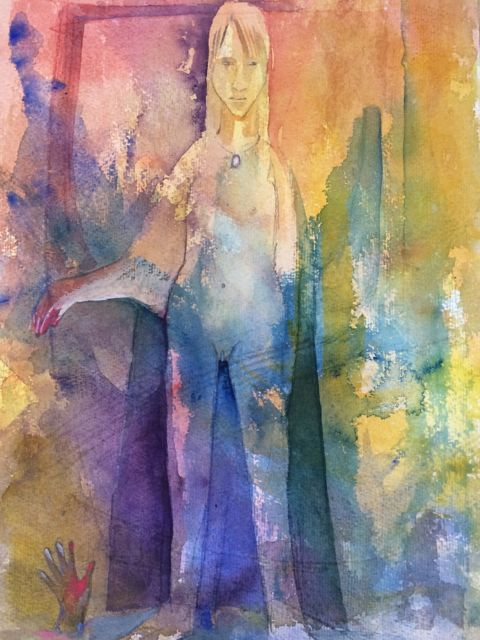 Akvarell, hand