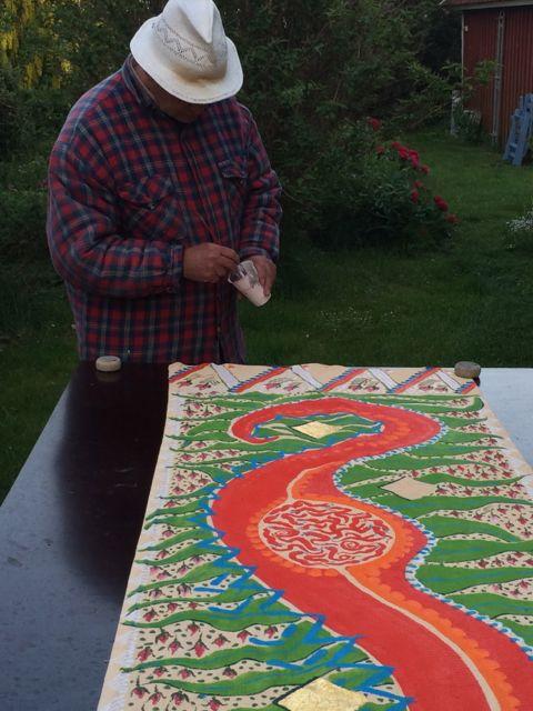 bonadsmålning. Rurik med ormen