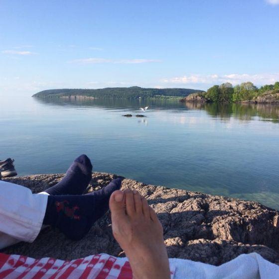 våra fötter och Omberg