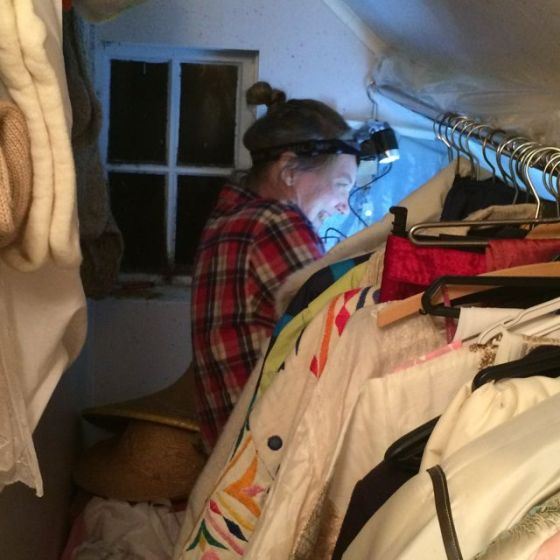 pannlampa i garderoben