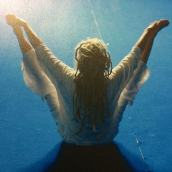 yoga, blå
