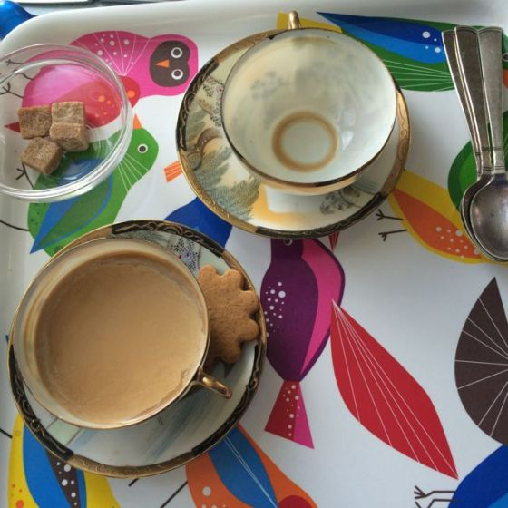 kaffe, tom kopp