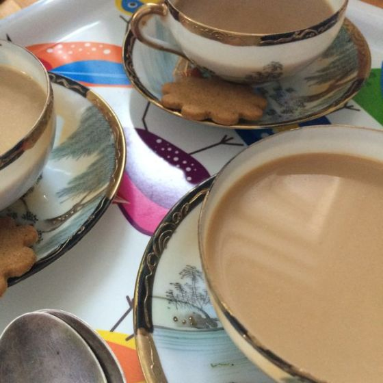 kaffe, tre koppar