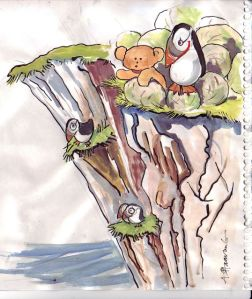 Noha på klippan i Norge