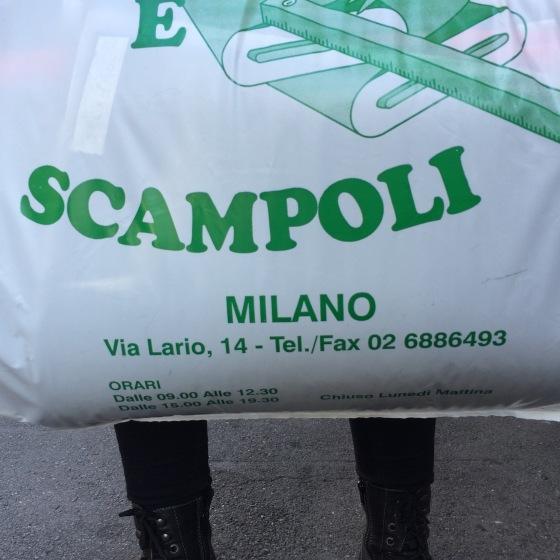 Scampoio, Adress på påse