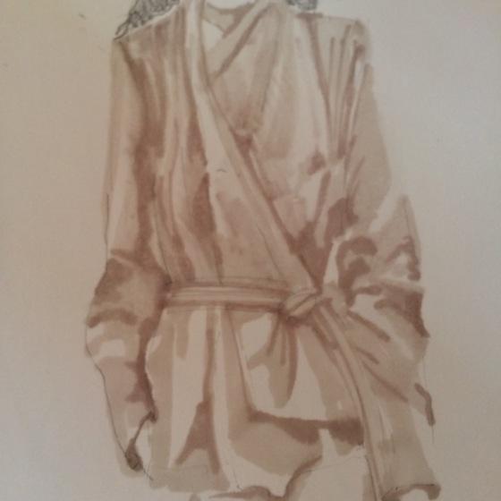 jacka bomull, måla i tusch