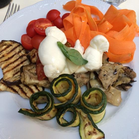 Italiensk lunch, mozzarella