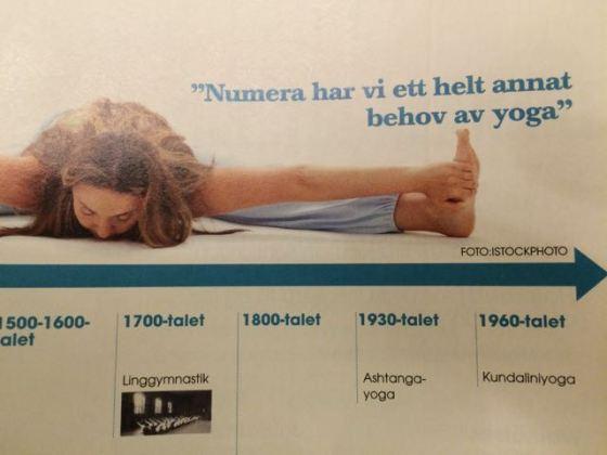 tidslinje yoga