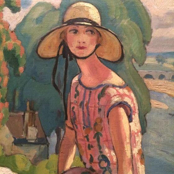 Gerda Wegener ( målat av Einar Wegener)