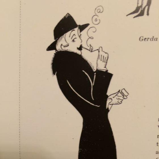 Einar Wegener, teckning av Gerda Wegener