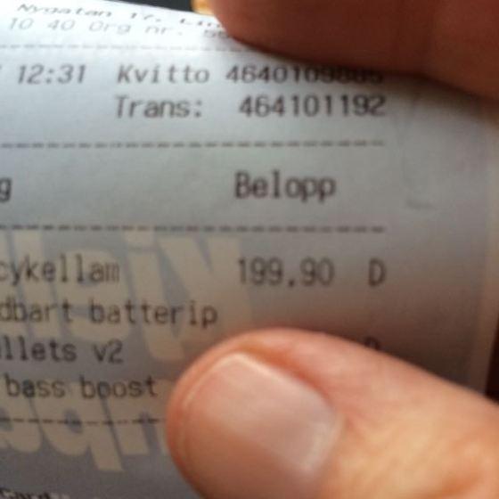 priset på ficklampan
