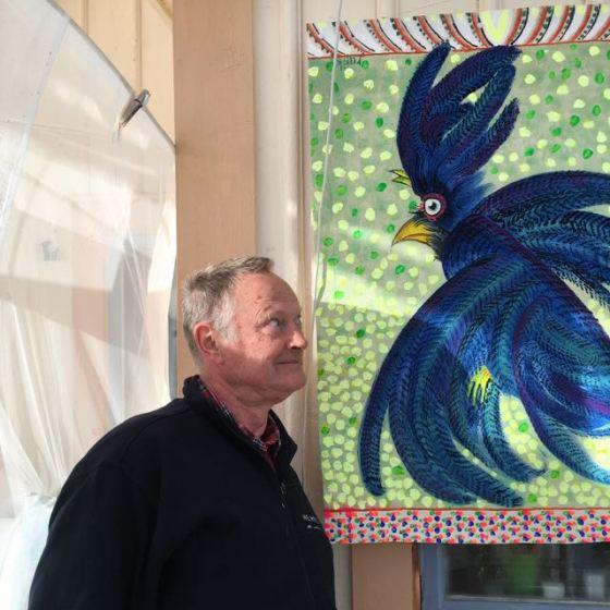 blå fågel, av Rurik Bladh