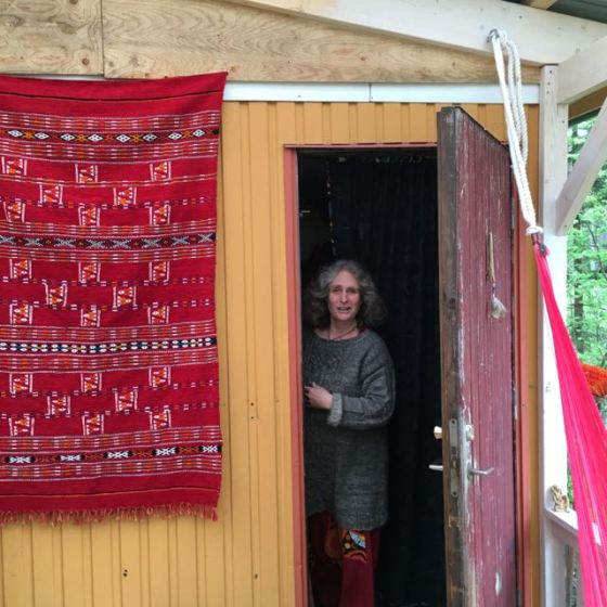 Karin i sommarhuset