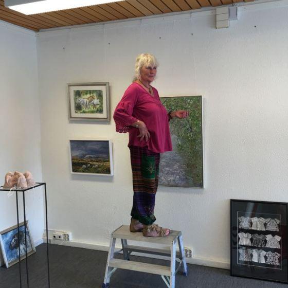 Kerstin Grönvall på stegen