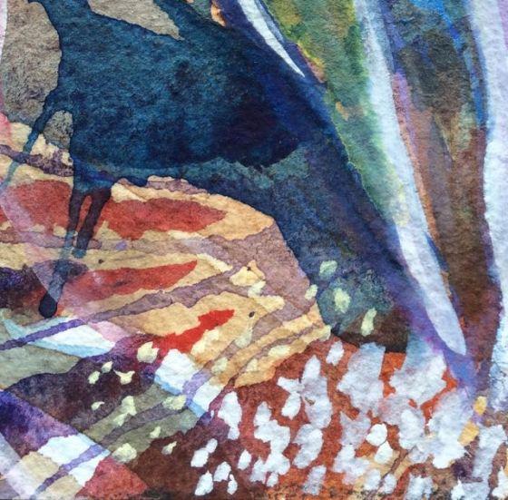 """akvarell, detalj, """"Kryddig"""" av Ganga"""