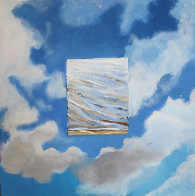 Himmel och Hav, duk, akryl, av Ganga