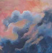 röd himmel,akryl på duk, av Ganga