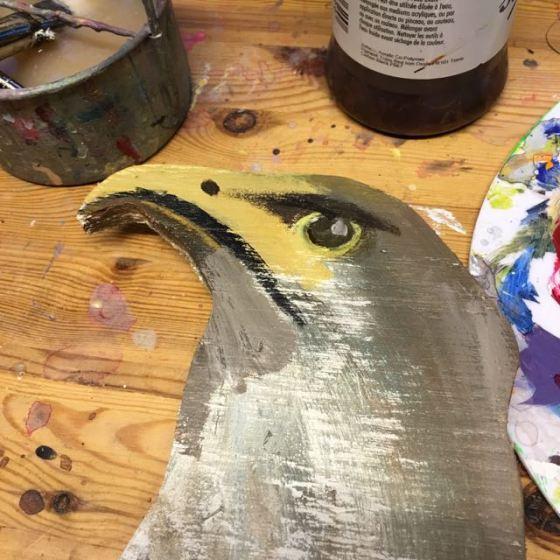 örn, målad
