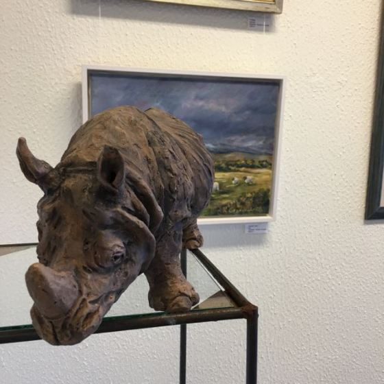 noshörning, keramik, Kerstin Grönvall