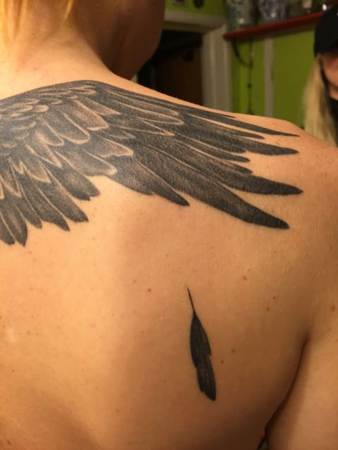 Siris tatuering, detalj