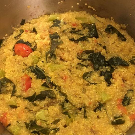 Quinoa med kål