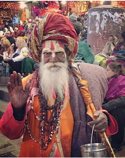 Sadhu, blessing