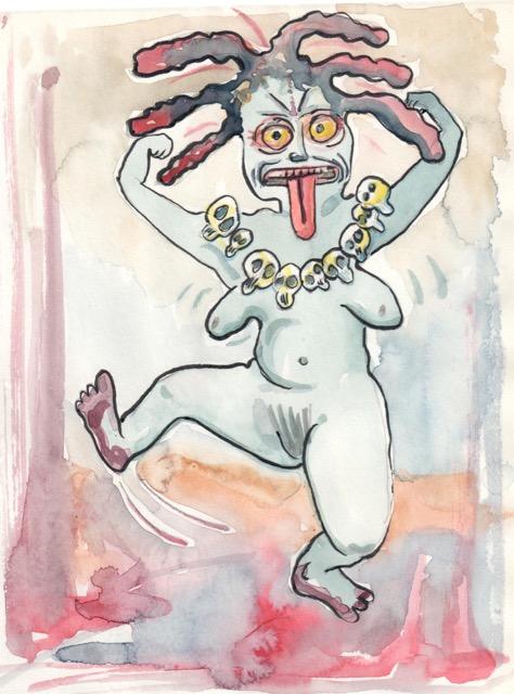 Kali dansar av ganga