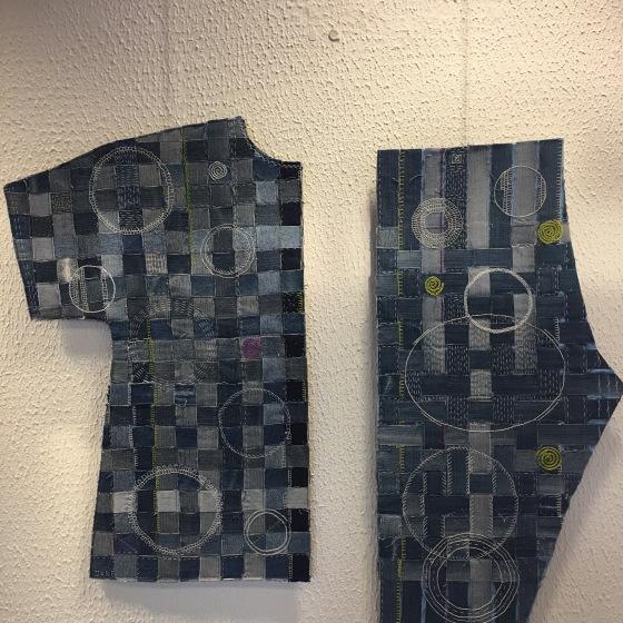 Textil bild av Jane Solberg
