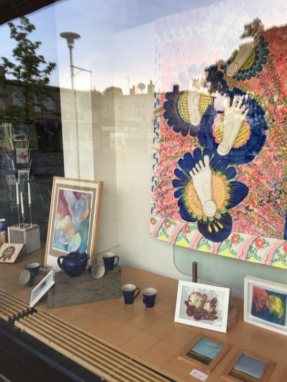 Skyltfönster, galleri Omkultur, bonad Rurik Bladh
