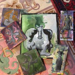 small paintings by Ganga