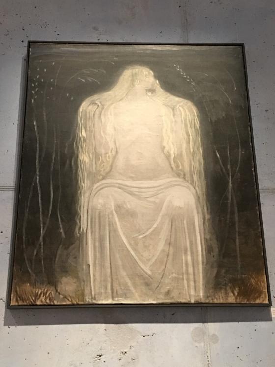 Sittande kvinna, av Bauer