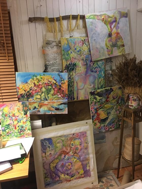 Ateljé , Gangas konst
