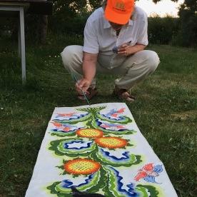 Rurik is painting