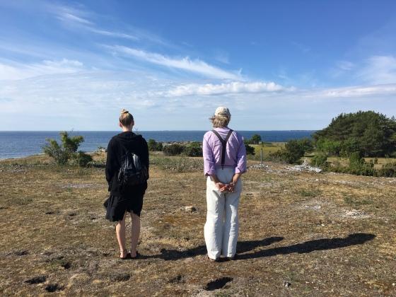 Rita och Rurik, stranden