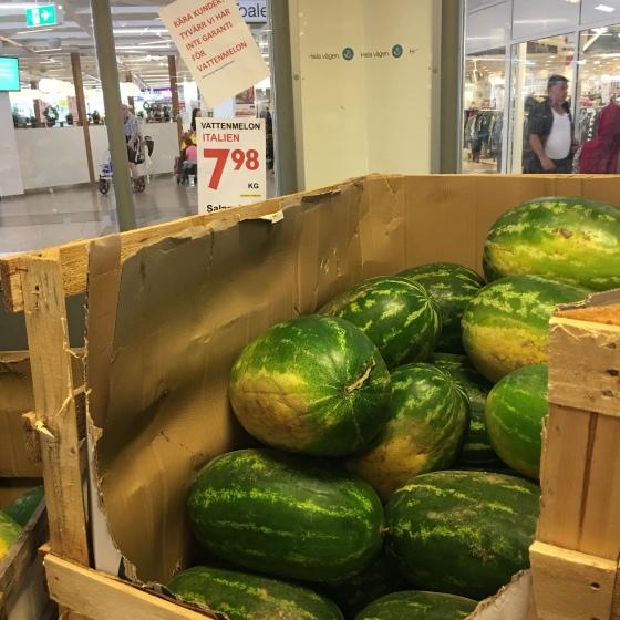 Stora vattenmeloner