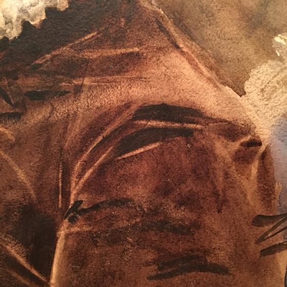 Zorn, detalj, akvarell
