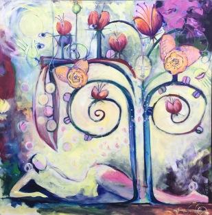 Livets Träd, 100 x 100cm, by Ganga