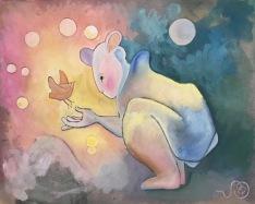 Ahamsa, ren Kärlek till allt levande, by Ganga. gouache