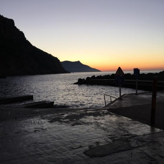 Solnedgång i port Valldemossa